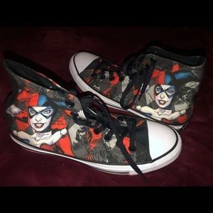 Limited Edition Harley Quinn Hi-Top Converse